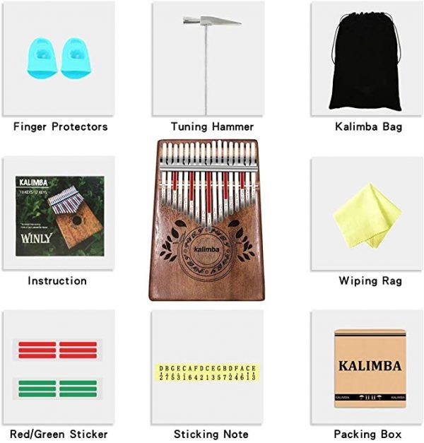 instrument-kalimba-débutant-17-bois-africain-haute-qualité-kit