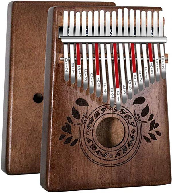 instrument-kalimba-débutant-17-bois-africain-haute-qualité-principale